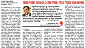 If kids get infected, no medicine against Covid-19 for them : Dr Oak